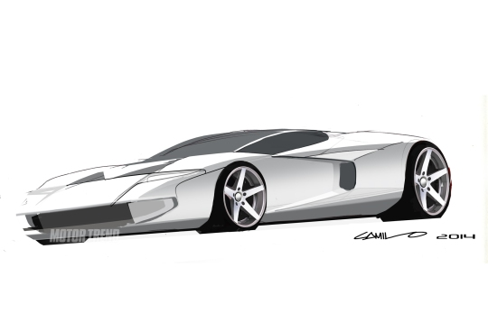 A rendering of what the new Ford GT may look like, designed by Camilo Pardo - motortrend.com